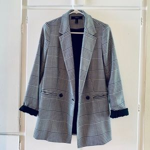 Oversized blazer in grey plaid S